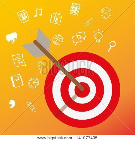 targeting customer head mind niche target market marketing concept business vector