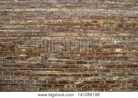 Old vintage grunge brick wall exterior backdrop