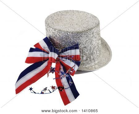 July 4Th Hat And Ribbon