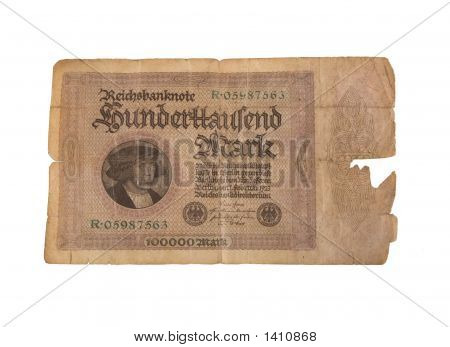 Vintage German Reichsbanknote