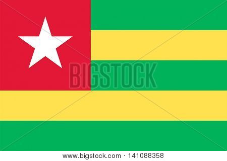 Vector Togo national flag