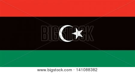 Vector Libya national flag