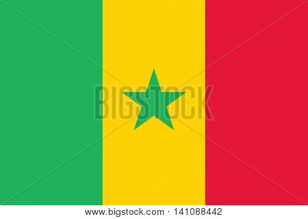 Vector Senegal national flag