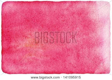 Abstract ink spot textured background template. High resolution watercolour stain. Pink red watercolor