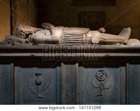 Tomb of mercenary Samuel Cockburn located in Turku Cathedral Finland
