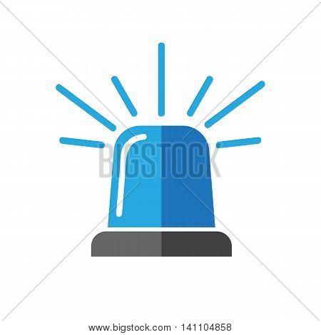 Single design element demonstrating blue flasher siren eps 10