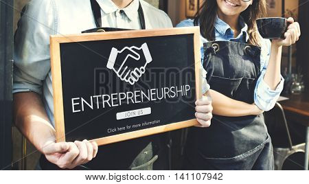 Entrepreneur Business Venture Handshake Graphic