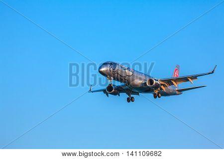 Corfu Airport, Greece - July 9, 2011: Embraer 190 Of Niki At The Airport Corfu