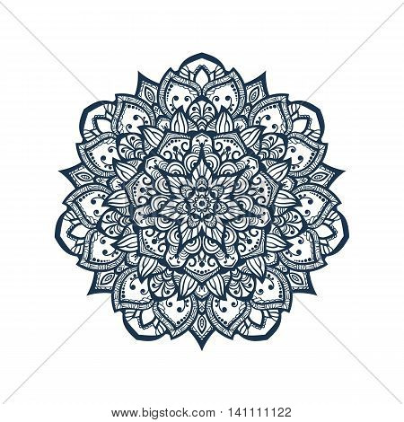 Mandala. Tibetan mandala isolated on seamless background. Vintage decorative elements. Hand drawn seamless pattern. Islam Arabic Indian ottoman motifs.