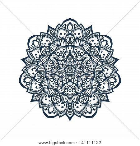 Mandala. Tibetan mandala isolated on seamless background. Vintage decorative elements. Hand drawn seamless pattern. Islam Arabic Indian ottoman motifs.