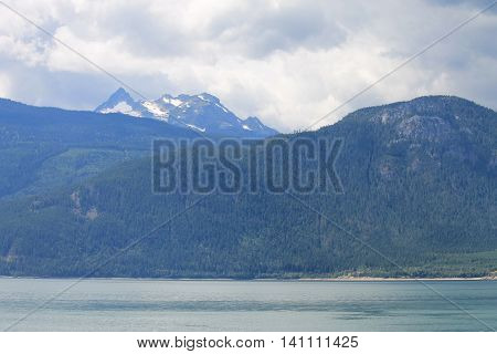 The Kootenays mountain and lake nature scenic