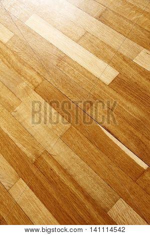 A wooden floor parquet background. Digital photo. poster