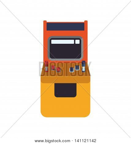 machine old pixel video game play icon. Isolated and flat illustration. Vector graphic