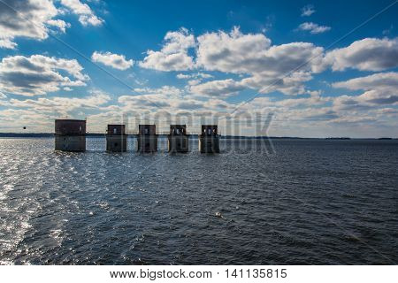 Lake Murray Water Towers Electricity South Carolina USA