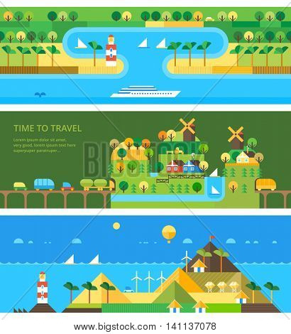 Vector set - Travel banners