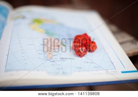 Baord Game Dice And Map