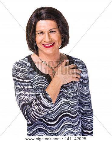 Happy Hispanic Transgender Woman