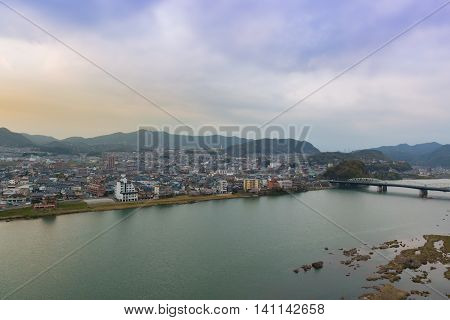 Landscape Of Inuyama City View With Kiso River