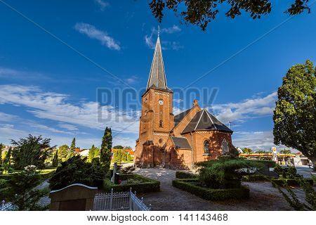 Old Catholic Church And Cemetery In Dragor Near Copenhagen, Denmark