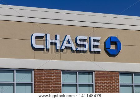 Muncie IN - Circa July 2016: Chase Bank Retail Location. Chase is the U.S. Consumer and Commercial Banking Business of JPMorgan Chase IV