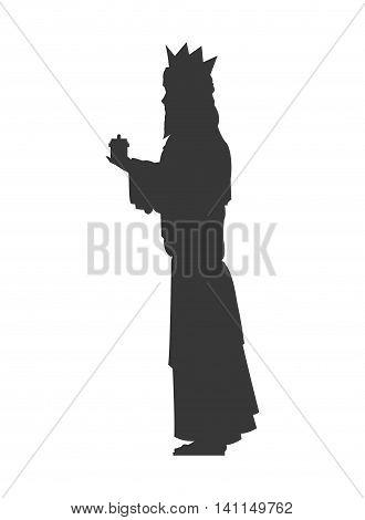 flat design magi silhouette icon vector illustration