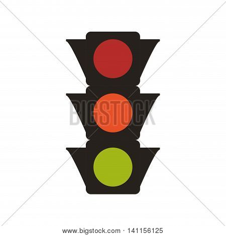 semaphore security street transportation urban icon. Isolated and flat illustration. Vector graphic