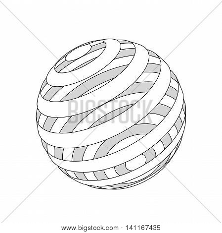 Background abstract. Lines sphere cut rings. Vector illustration