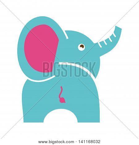 elephant cute isolated icon vector illustration design