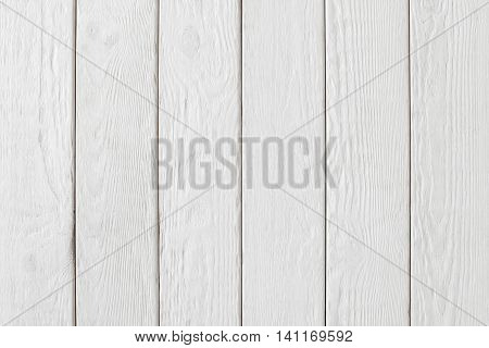 White wooden planks wall background, Vertical position of colored panels
