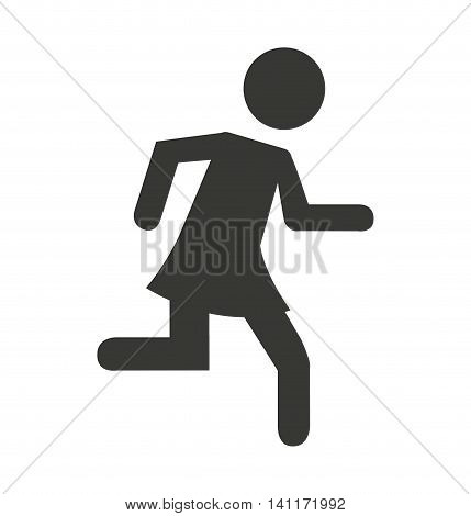 human figure person running vector illustration design