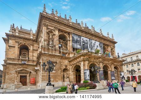 Budapest, Hungary-may 02, 2016:  Hungarian State Opera House  Is A Neo-renaissance Opera House Locat