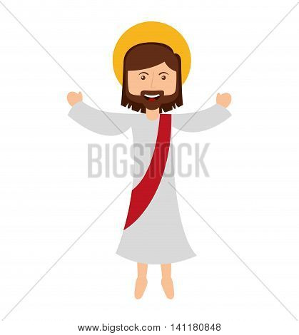 jesus christ man icon vector isolated graphic
