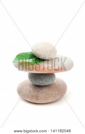 Balancing Zen Stones Isolated