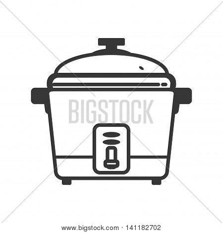 Rice cooker supply house electric appliance icon. Isolated and flat illustration. Vector graphic