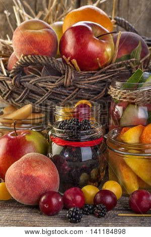 preservation of fresh local organically grown seasonal summer fruit