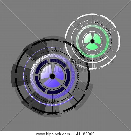 Technology gears flow abstract background stock vector