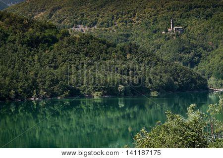 Garfagnana Tuscany Italy - The artificial lake of Gramolazzo Serchio Valley Tuscany Italy