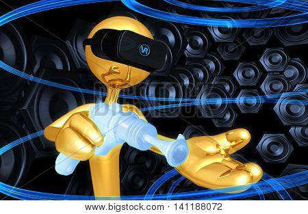 Virtual Reality VR Raygun 3D Illustration