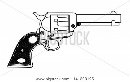 A wild west six gun isolated over a white background