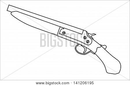 Two typical cut down shotgun over a white background