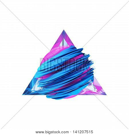 Render abstract field inside a glass triangle