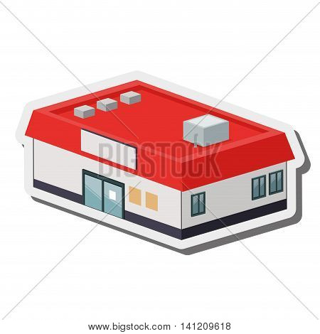 flat desig supermarket or store icon vector illustration