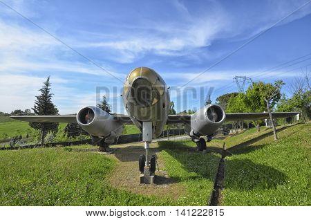 The Ilyushin Il-28 in a aircraft cemetery