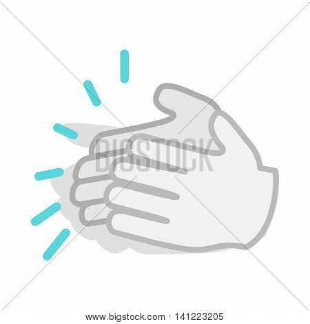 Applause, clapping hands icon in isometric 3d style on a white background