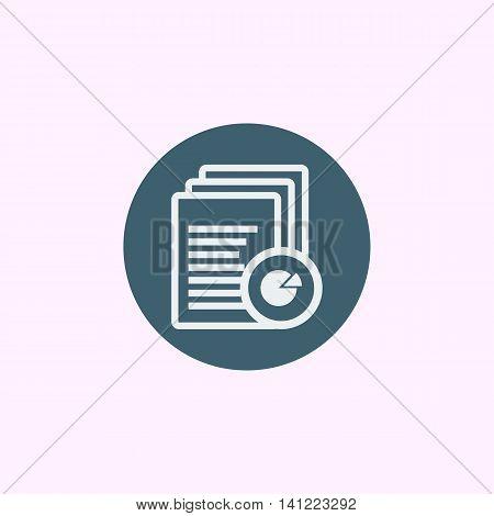 Files Pie Graph Icon In Vector Format. Premium Quality Files Pie Graph Symbol. Web Graphic Files Pie