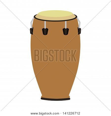 flat design single conga icon vector illustration