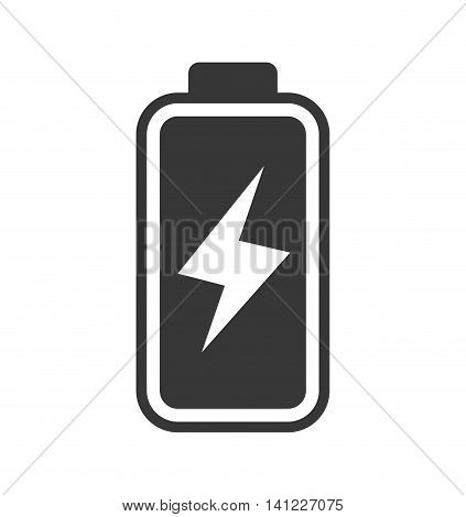 Battery silhouette energy power charge icon. Isolated and flat illustration. Vector graphic