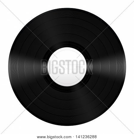 Vinyl music record with unlabeled white center.