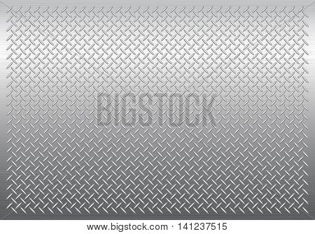 Gray metal background vector pattern texture template