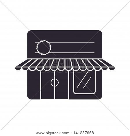 store frame market shop building icon. Isolated and flat illustration. Vector graphic